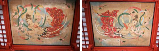 本殿の天井画