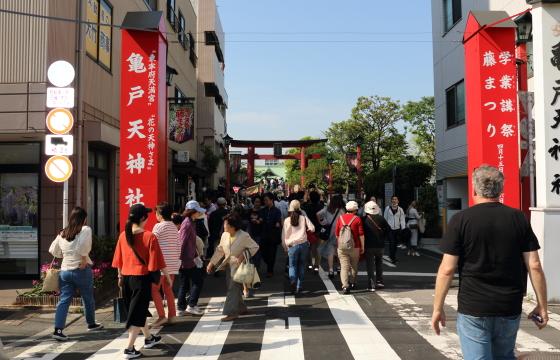 亀戸天神社の参道